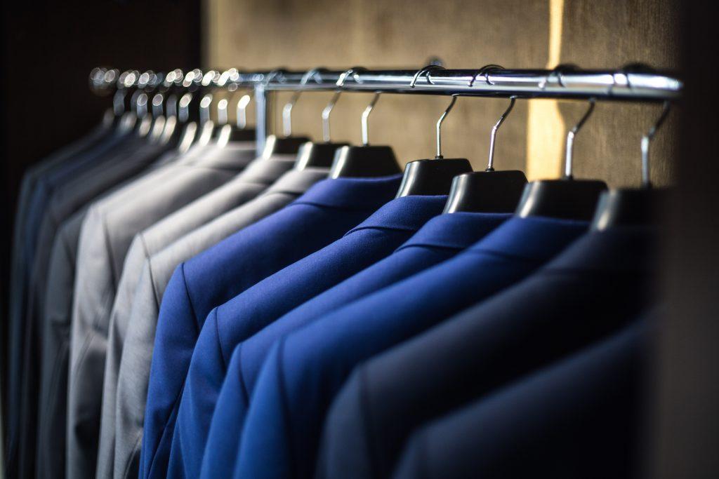 Organized closet, cleaning service preparation