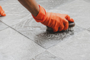 What is the best way to clean ceramic tiles